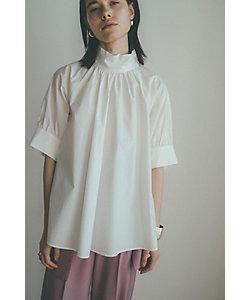 CLANE(Women)/クラネ STAND UP COLLAR GATHER TOPS