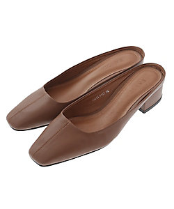 CLANE(Women)/クラネ SQUARE TOE LOW PUMPS BROWN